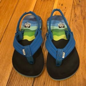Reef 7/8 flip flops with back strap